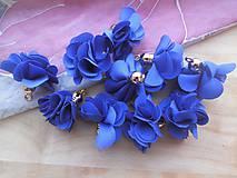 - Textilné kvety - pár (viac druhov) (Tmavomodrá) - 9247618_