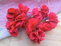 - Textilné kvety - pár (viac druhov) (Červená) - 9247623_