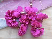 - Textilné kvety - pár (viac druhov) (Fuchsiová) - 9247626_
