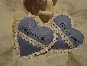 Dekorácie - Srdiečko pre drobčeka (Modrá) - 9247429_