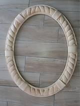 Zrkadlá - Ručne vyrezávaný rám - v surovom stave - 9244429_