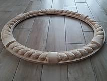 Zrkadlá - Ručne vyrezávaný rám - v surovom stave - 9244432_