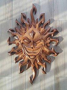 Obrazy - Ručne vyrezávané slnko tribal - 9244536_