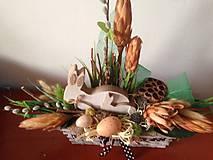 Dekorácie - Velkonočna prirodna dekoracia 50cm-zlava - 9245207_