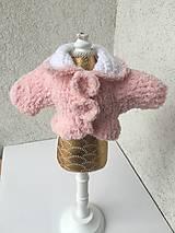 - Kabátik pre bábiky- 25-27 cm. - 9246803_