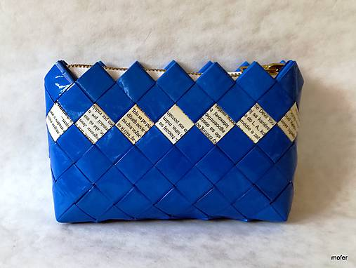 131f37c8cdf6 Modrá peňaženka   mofer - SAShE.sk - Handmade Peňaženky
