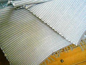 Úžitkový textil - tkany koberec pasikavy - 9250483_