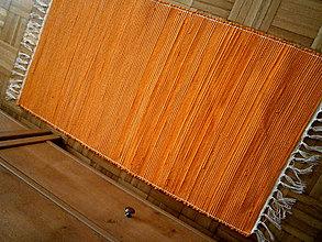 Úžitkový textil - tkany koberec oranzovy - 9250568_