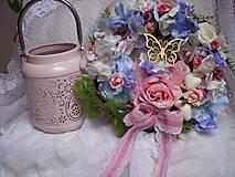 Dekorácie - celoročný alebo svadobný veniec na zavesenie - 9251277_