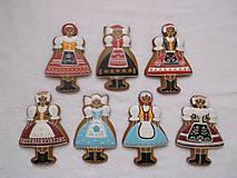 Dekorácie - medovníkové dievčence v kroji - 9251611_