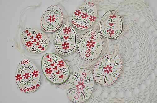Dekorácie - Maľované veľkonočné vajíčka - 9250566_