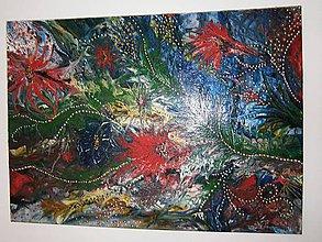 Obrazy - lel, exotic flowers-abstrakt - 9250724_