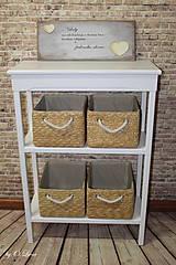 Nábytok - Konzolový stolík - dvojpolicový - 9249020_