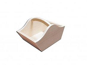 Polotovary - Drevený košík - 9248998_