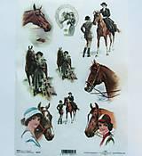 Papier - Ryžový papier na decoupage - A4-R227 - kone, horses, retro - 9249168_