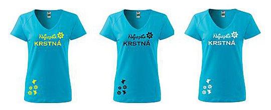Tričká - tričko krstná mama,mama, babička - 9251965_
