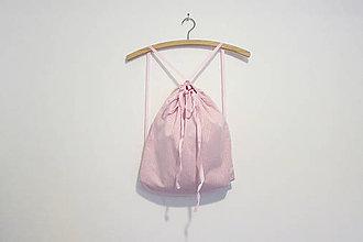 Batohy - Ružový pruhovaný batoh - 9252921_