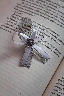 Pierka - Svadobné pierko pre družbu bielo-strieborné - 9250422_