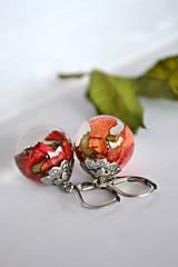 Náušnice - Náušnice Svieža ruža (2388 A CHO) - 9252893_