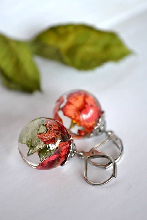 Náušnice Svieža ruža (2388 A CHO)