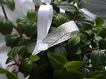 Pierka - Svadobné pierko srdiečko-strieborné - 9251878_