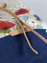 Kabelky - Ručne maľovaný batôžtek z ľanu