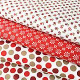 Textil - mini kvietky, 100 % bavlna Nemecko, šírka 140 cm, cena za 0,5 m - 9250554_
