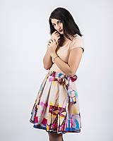 Sukne - Zavinovacia sukňa s dizajnovou potlačou Ballet schoes (z akrylovej maľby) - 9249430_