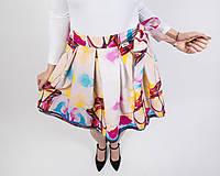 Sukne - Zavinovacia sukňa s dizajnovou potlačou Ballet schoes (z akrylovej maľby) - 9249431_