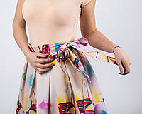 Sukne - Zavinovacia sukňa s dizajnovou potlačou Ballet schoes (z akrylovej maľby) - 9249434_