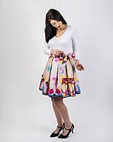 Sukne - Zavinovacia sukňa s dizajnovou potlačou Ballet schoes (z akrylovej maľby) - 9249435_