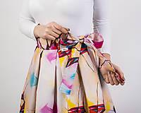 Sukne - Zavinovacia sukňa s dizajnovou potlačou Ballet schoes (z akrylovej maľby) - 9249436_