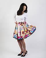 Sukne - Zavinovacia sukňa s dizajnovou potlačou Ballet schoes (z akrylovej maľby) - 9249438_