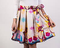 Sukne - Zavinovacia sukňa s dizajnovou potlačou Ballet schoes (z akrylovej maľby) - 9249439_