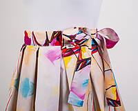 Sukne - Zavinovacia sukňa s dizajnovou potlačou Ballet schoes (z akrylovej maľby) - 9249441_