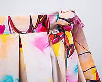 Sukne - Zavinovacia sukňa s dizajnovou potlačou Ballet schoes (z akrylovej maľby) - 9249442_