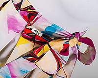 Sukne - Zavinovacia sukňa s dizajnovou potlačou Ballet schoes (z akrylovej maľby) - 9249443_