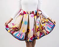 - Zavinovacia sukňa s dizajnovou potlačou Ballet schoes (z akrylovej maľby) - 9249445_