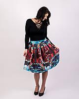 Sukne - Zavinovacia sukňa s dizajnovou potlačou Abstract city (z akrylovej maľby) - 9249448_