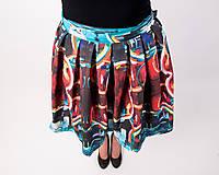 Sukne - Zavinovacia sukňa s dizajnovou potlačou Abstract city (z akrylovej maľby) - 9249450_