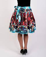 Sukne - Zavinovacia sukňa s dizajnovou potlačou Abstract city (z akrylovej maľby) - 9249454_