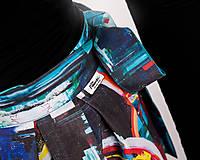 Sukne - Zavinovacia sukňa s dizajnovou potlačou Abstract city (z akrylovej maľby) - 9249455_