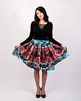 Sukne - Zavinovacia sukňa s dizajnovou potlačou Abstract city (z akrylovej maľby) - 9249456_