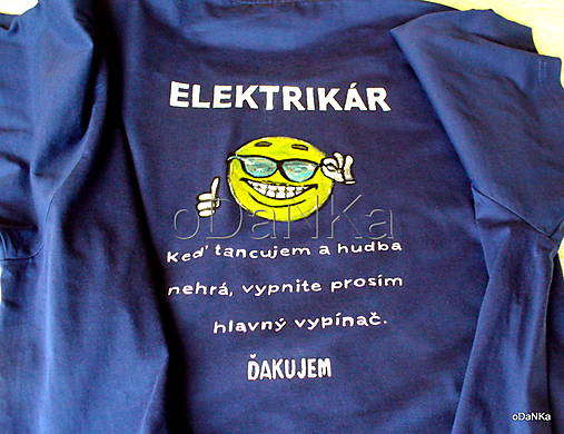 7d6649d95b7 Tričko Elektrikár   oDaNKa - SAShE.sk - Handmade Tričká
