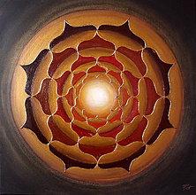 Obrazy - Mandala SLNEČNÝ DEŇ 60 x 60 - 9249609_