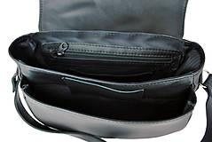 Kabelky - Lovecká kabelka ručne vyšívaná z pravej kože - červené vyšívanie - 9252513_