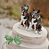 Figúrky na svadobnú tortu - bulteriér podľa fotografie II.
