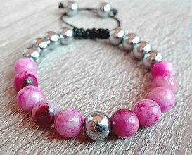 Náramky - Náramok ružový Hemimorfit - 9250064_