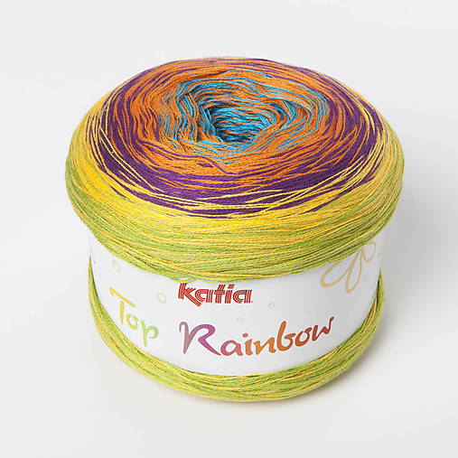 ee7f424d7 Priadza KATIA Top Rainbow / ZienkaDomaca - SAShE.sk - Handmade ...
