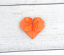 Drobnosti - Oranžové srdiečko - 9249934_